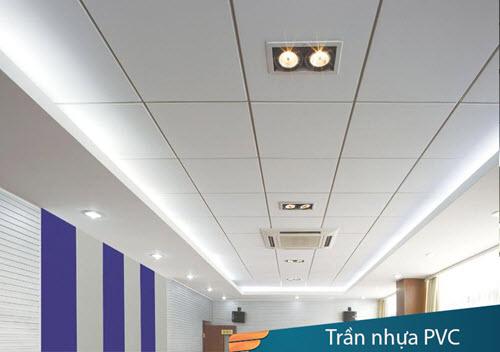 Thi công trần nhà nhựa
